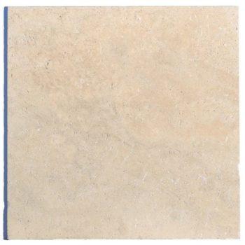 Dalle pierre TRAVERTIN 1er choix 40,6 x 40,6 cm
