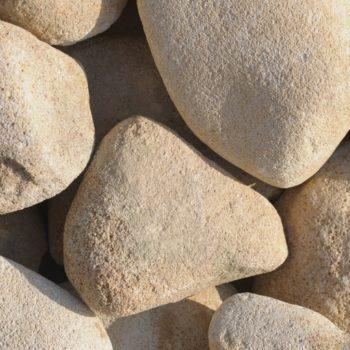 Galets beiges de 8 à 13 cm