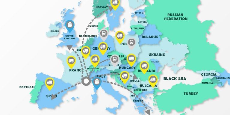 Livraison pierre naturelle dans toute la France et l'Europe