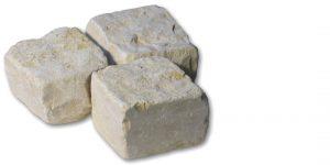 Pavés pierre Royal Cream vieilli